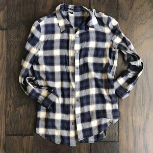 Theory plaid button down shirt